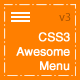 CSS3 Awesome Menu - CodeCanyon Item for Sale