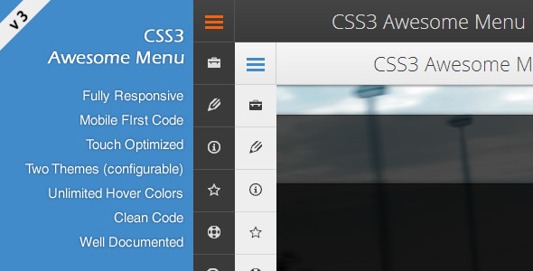 CSS3 Awesome Menu