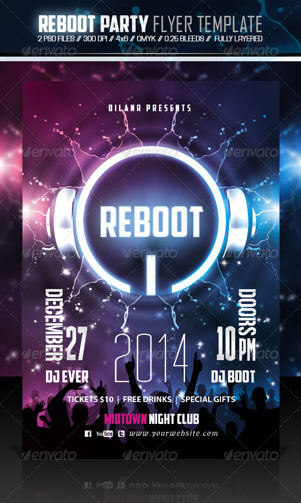 GraphicRiver Reboot Party Flyer Template 6279953