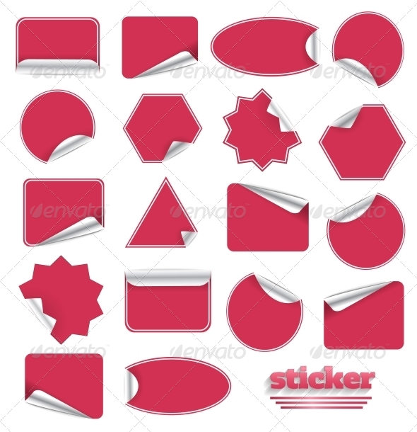 Red Blank Sticky Paper Set