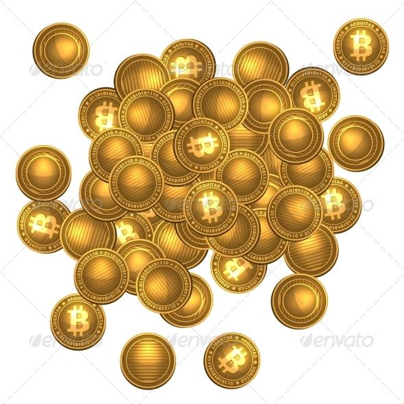 GraphicRiver Bitcoins Heap 6322734