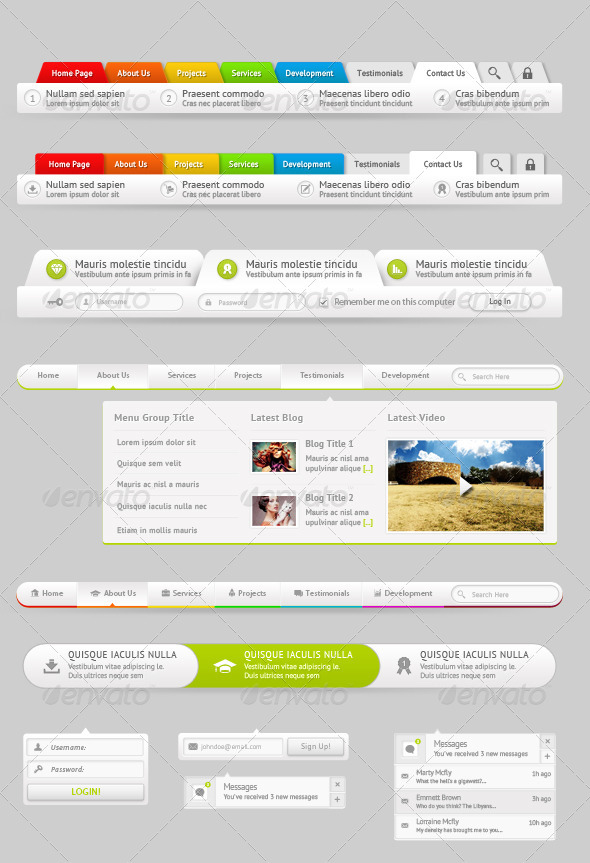 GraphicRiver 6 Modern Navigation Menu Dropdown Style 6292002