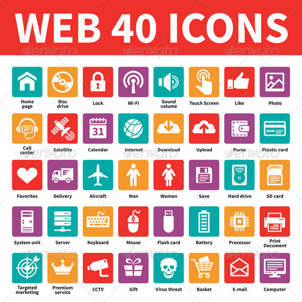 GraphicRiver Web 40 Icons 6322863