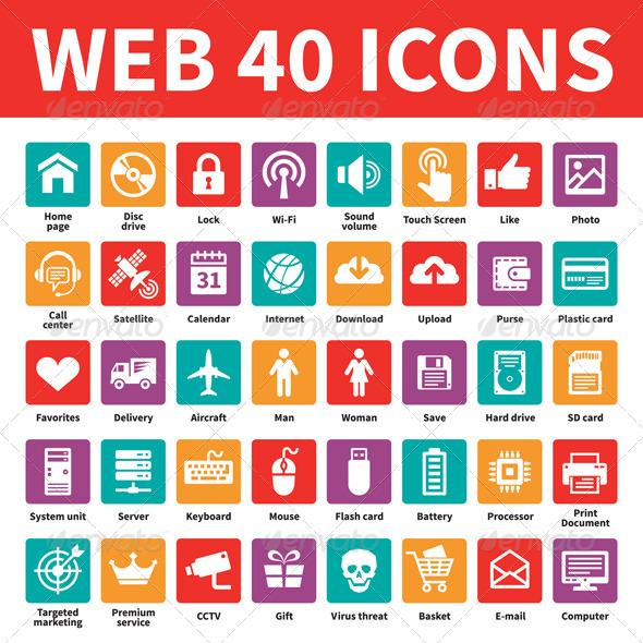 Web 40 Icons - Web Icons