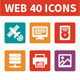 Web 40 Icons - GraphicRiver Item for Sale