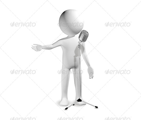 GraphicRiver Man with Microphone 6322894