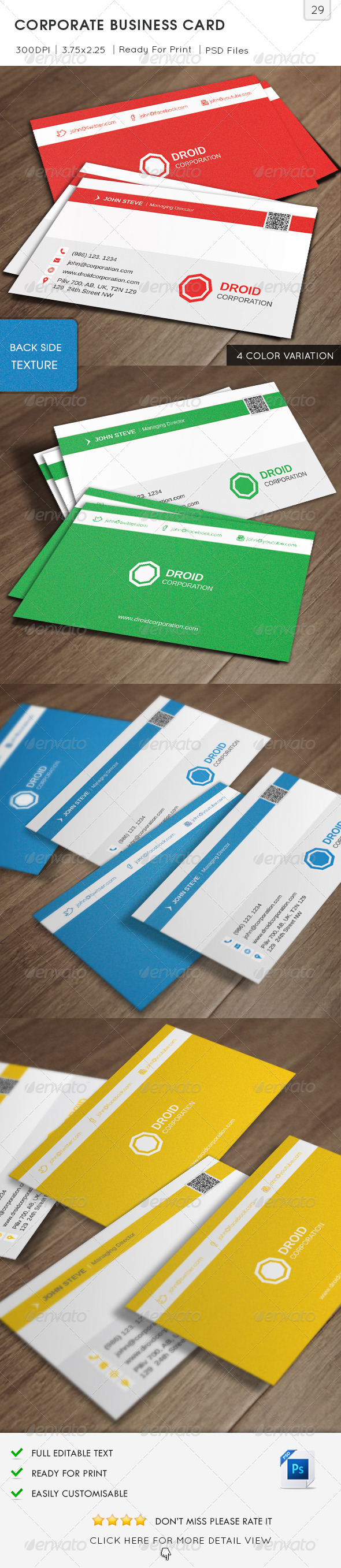 GraphicRiver Corporate Business Card v29 6322914