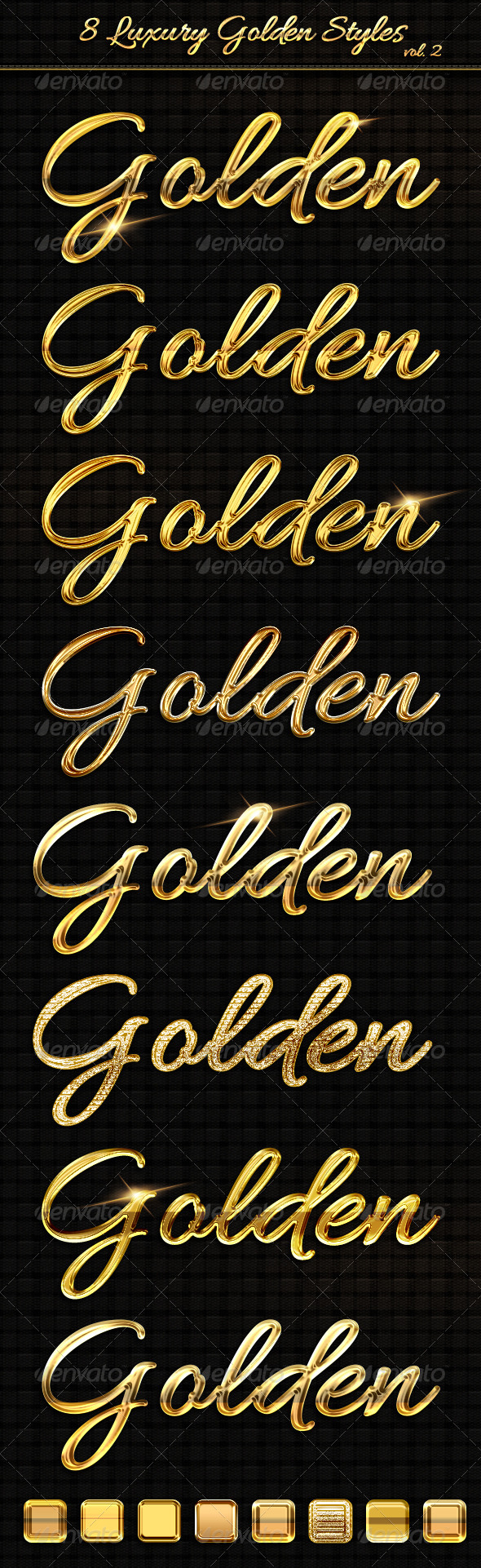 GraphicRiver 8 Luxury Golden Text Styles vol2 6322949