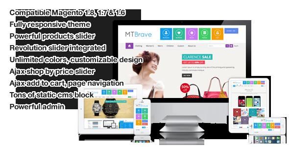Brave - MultiPurpose Flat Responsive Magento Theme