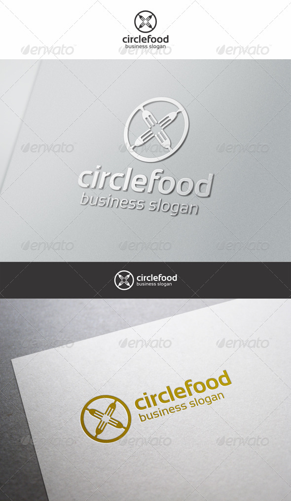 GraphicRiver Circle Food Logo 6323660