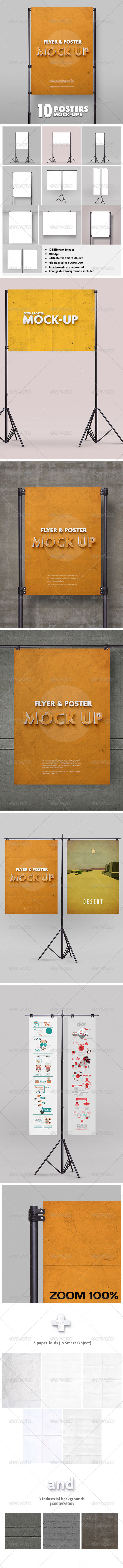GraphicRiver Poster Mockup vol.2 10 Different Images 6323685