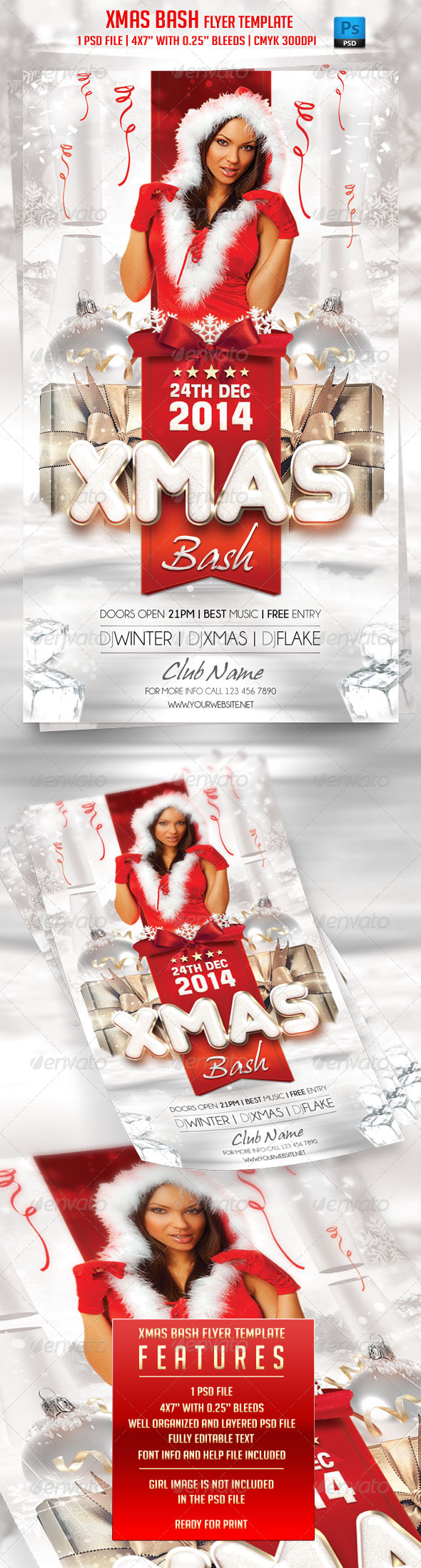 GraphicRiver Xmas Bash Flyer Template 6323785