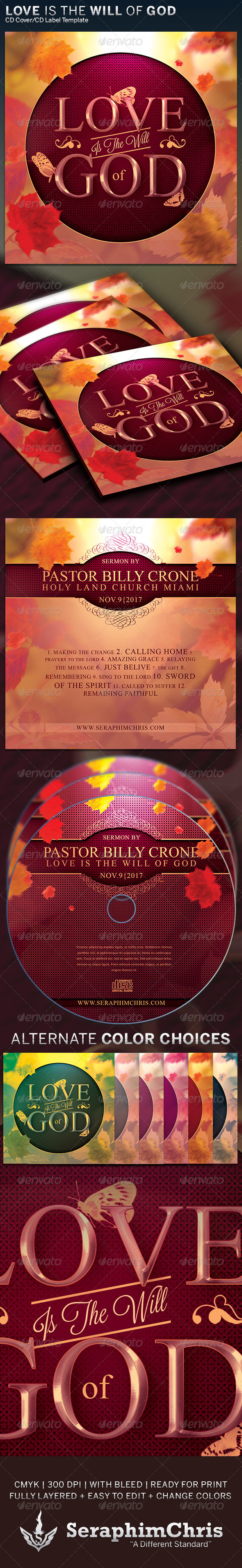 GraphicRiver Love is the Will of God CD Cover Artwork Template 6323819