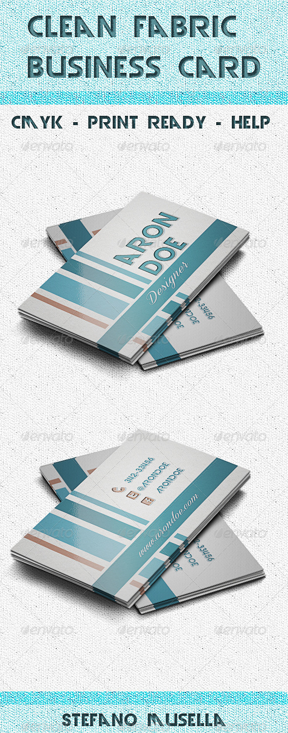 GraphicRiver Clean fabric business card 6317113
