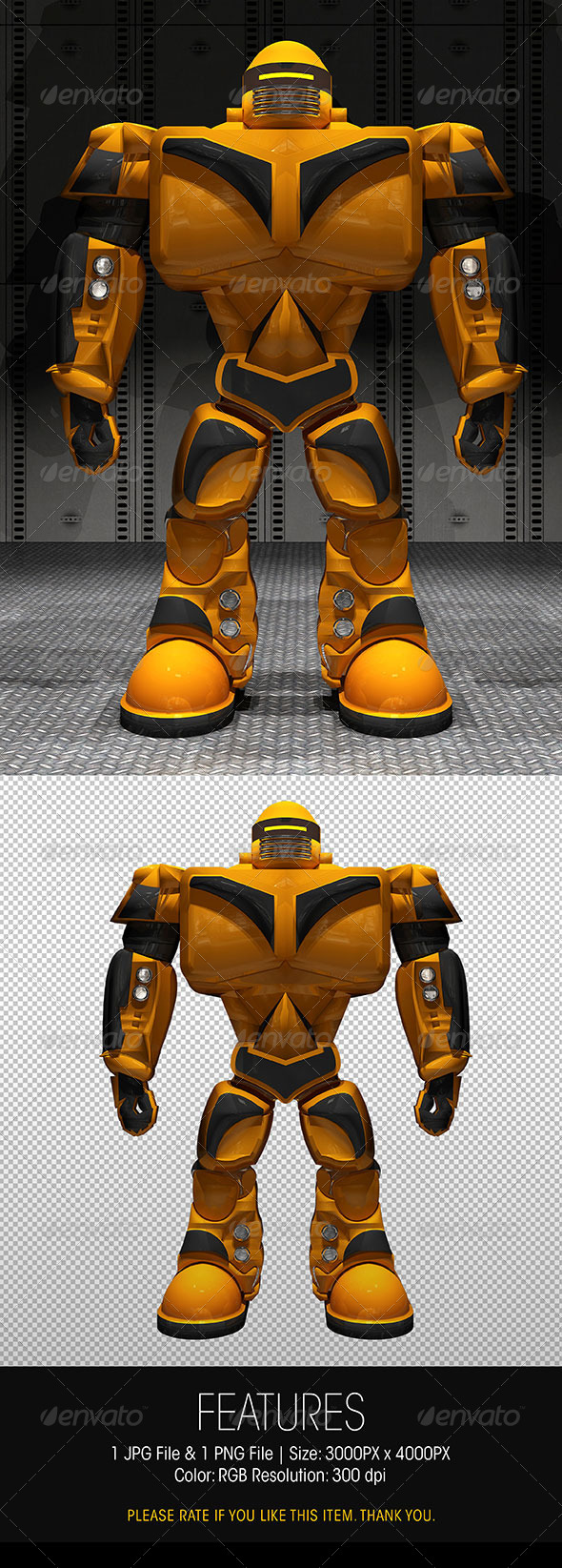 GraphicRiver 3D Fighting Robot Stand Up Pose 6324040