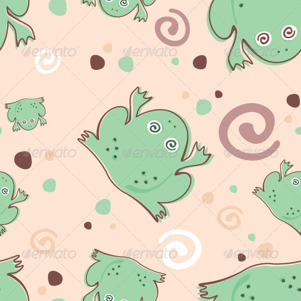 GraphicRiver Frogs Pattern 6324074