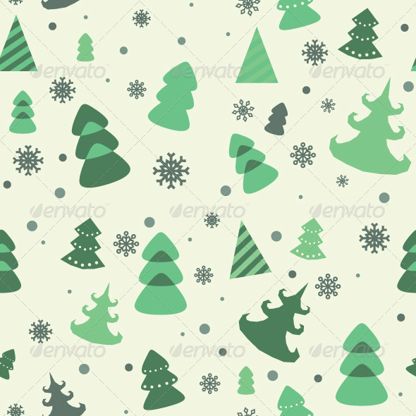 GraphicRiver Vector Seamless Pattern of Christmas Tree 6324185