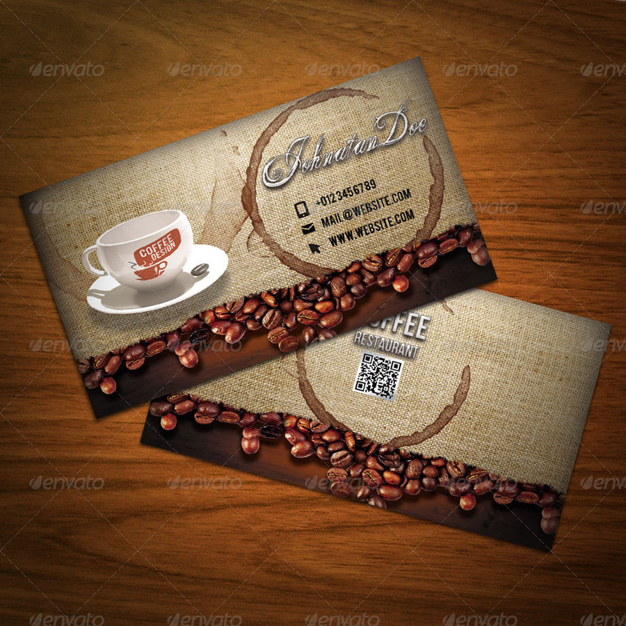 Creative coffee shop business card by qaderamirifard for Coffee business