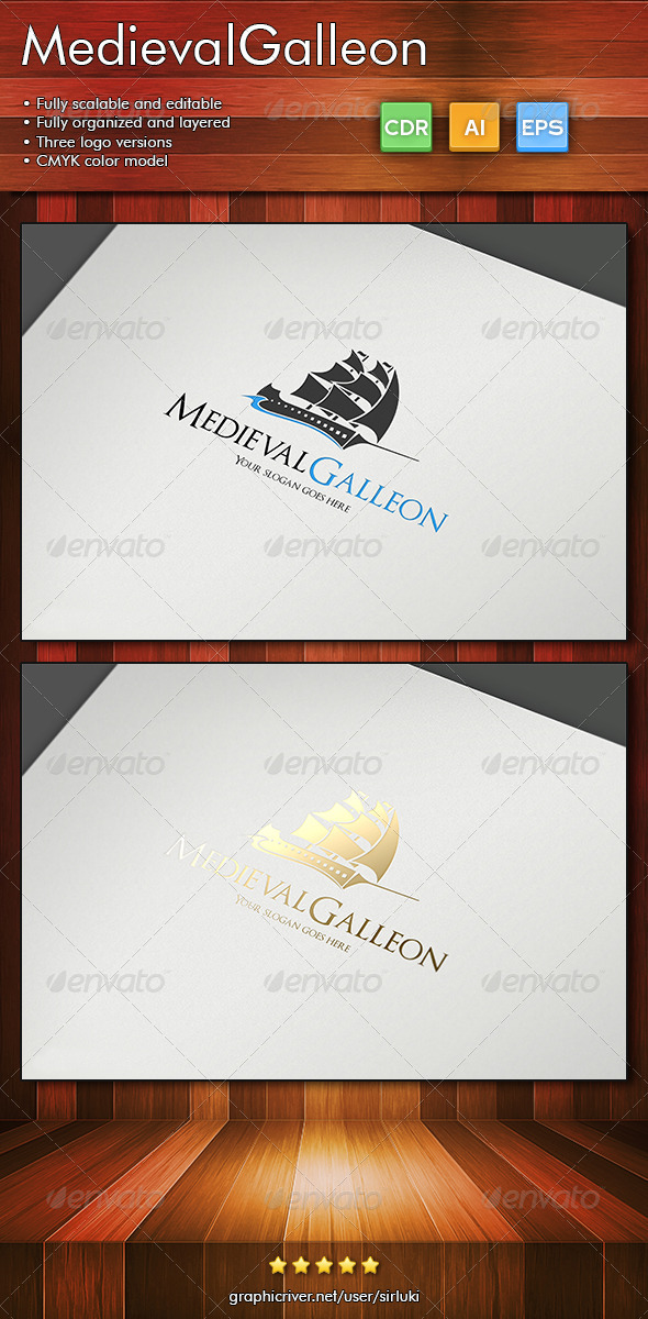 MedievalGalleon - Objects Logo Templates
