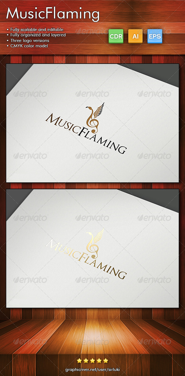 MusicFlaming - Animals Logo Templates
