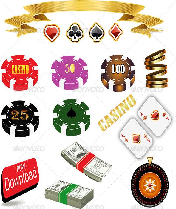 GraphicRiver Casino Icon Set 6316950