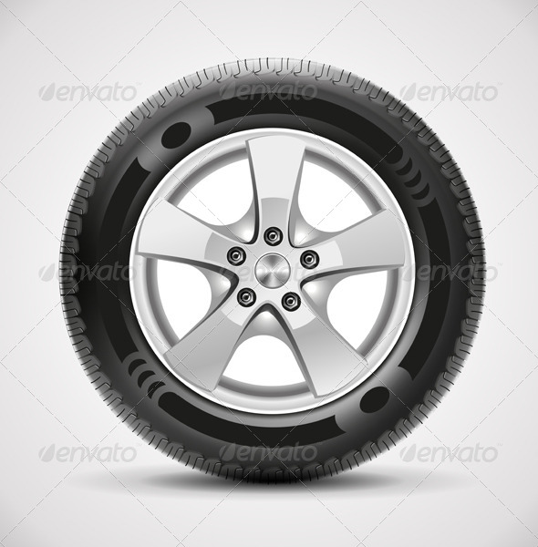 GraphicRiver Car Tire Vector 6300900