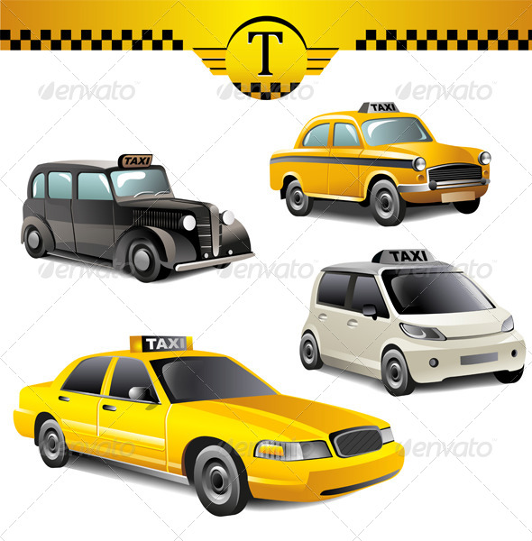 GraphicRiver Taxi Cars 6324334