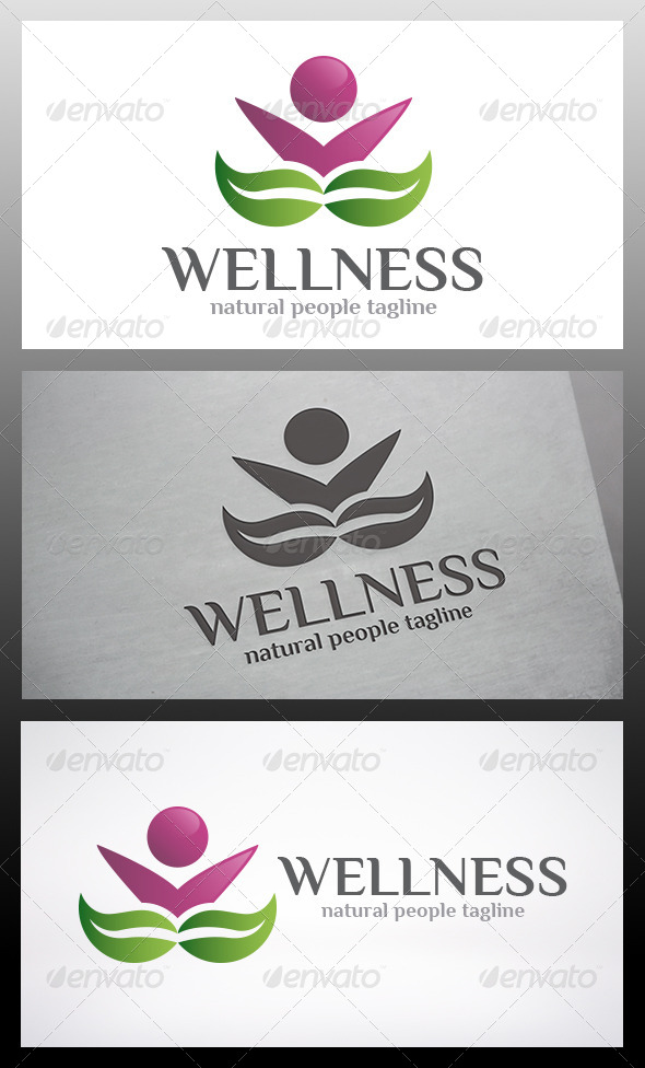 GraphicRiver Wellness People Logo 6324484