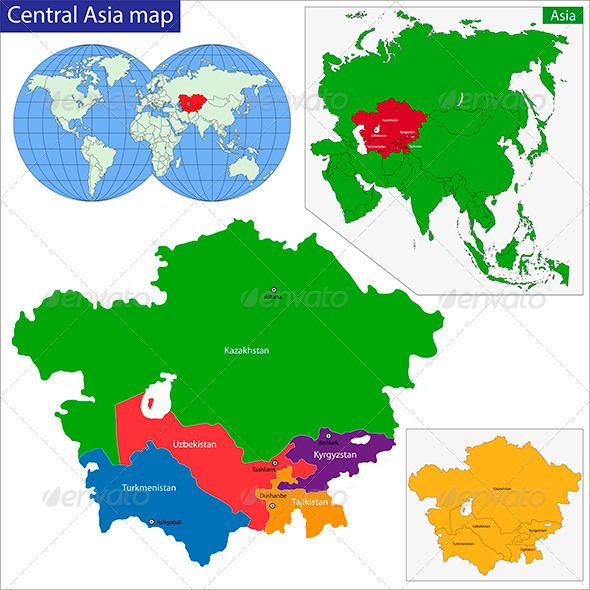 GraphicRiver Central Asia Map 6324496