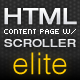 Elite Html Content Page with Scroller - ActiveDen Item for Sale