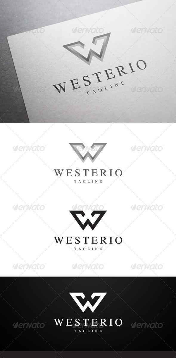 GraphicRiver Westerio W Letter Logo 6324521