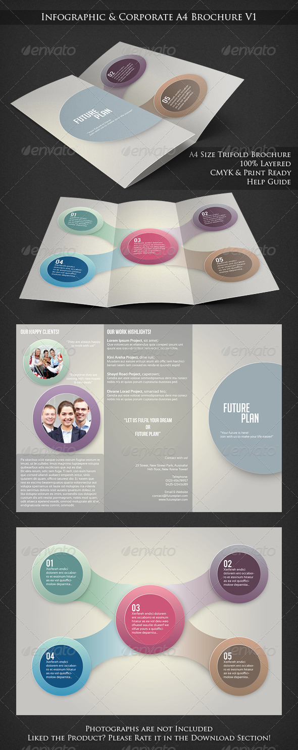 Infographic Trifold Corporate Brochure - Corporate Brochures
