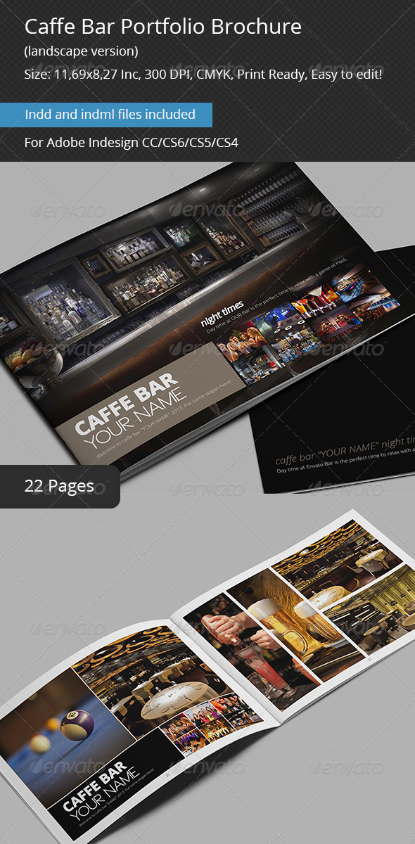 Caffe Bar Portfolio Brochure - Portfolio Brochures