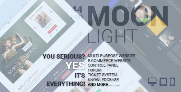 ThemeForest Pro Moon Light Multipurpose eCommerce PSD Template 6324797