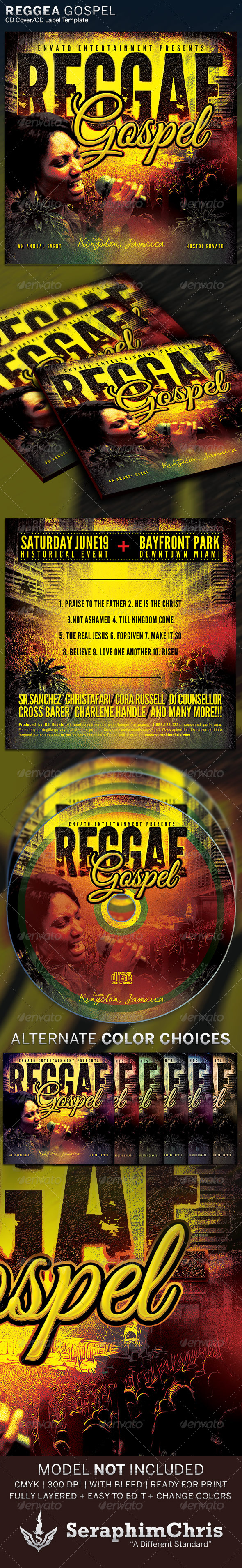 GraphicRiver Reggae Gospel CD Cover Artwork Template 6324827