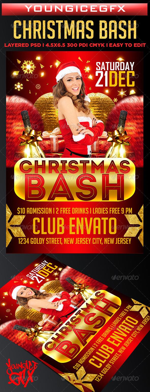 GraphicRiver Christmas Bash Flyer 6282961