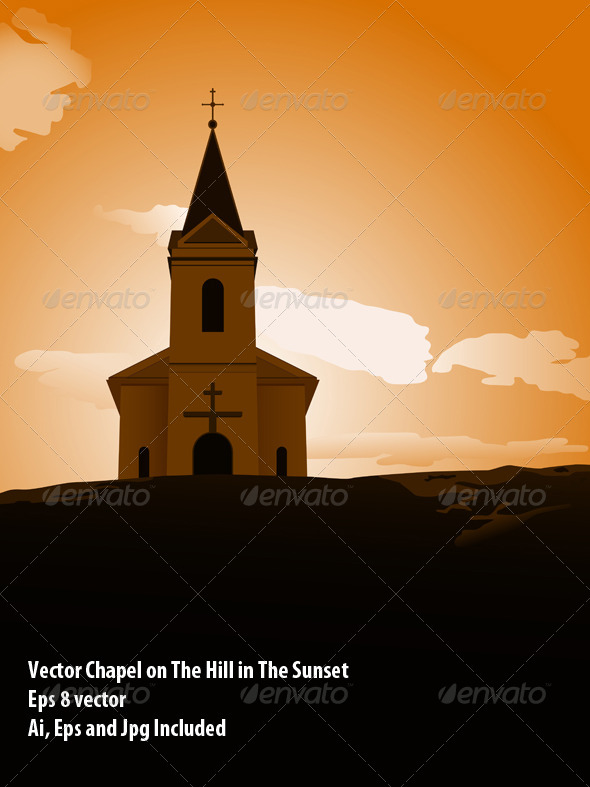 GraphicRiver Sunset Chapel 6325328
