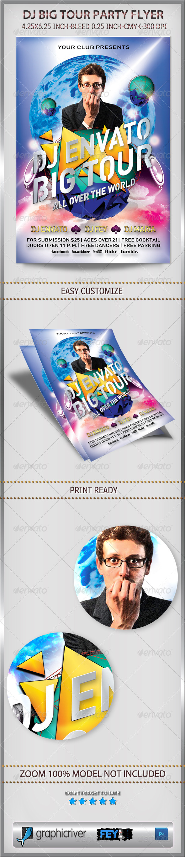 GraphicRiver Dj Big Tour Party Flyer 6317685