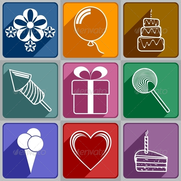 GraphicRiver Icons to Birthday 6325370