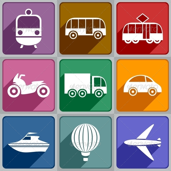 GraphicRiver Transport Icons 6325378