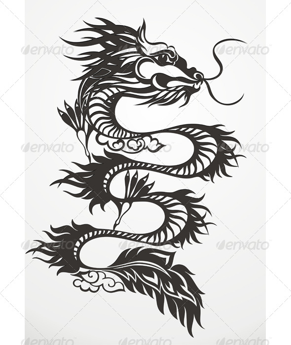 GraphicRiver Dragon Vector Illustration 6325679