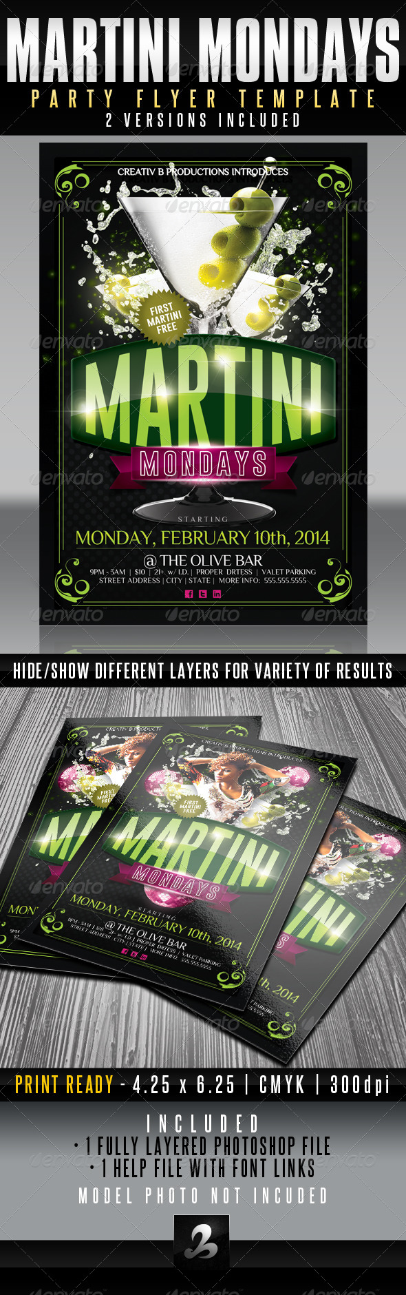 GraphicRiver Martini Mondays Party Flyer Template UPDATED 6319601