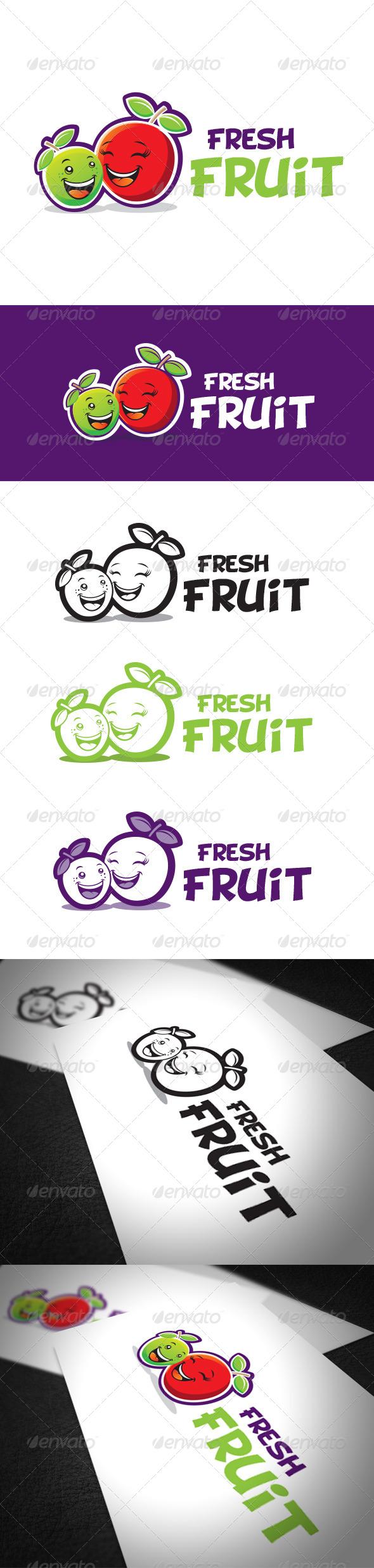 GraphicRiver Fresh Fruit Logo Template 6325816