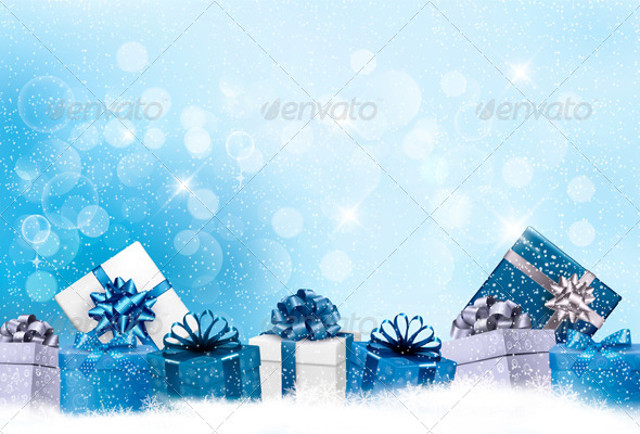 GraphicRiver Holiday Background with Gift Boxes 6326407