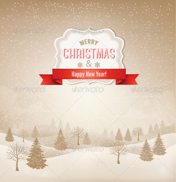 GraphicRiver Retro Holiday Christmas Background 6326486