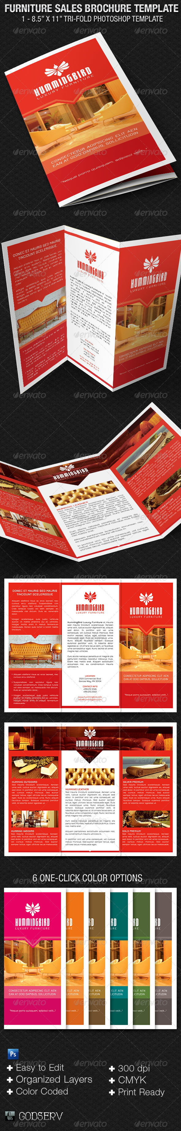 GraphicRiver Furniture Sales Brochure Template 6286346