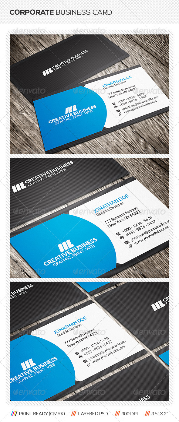 GraphicRiver Corporate Business Card 6327051