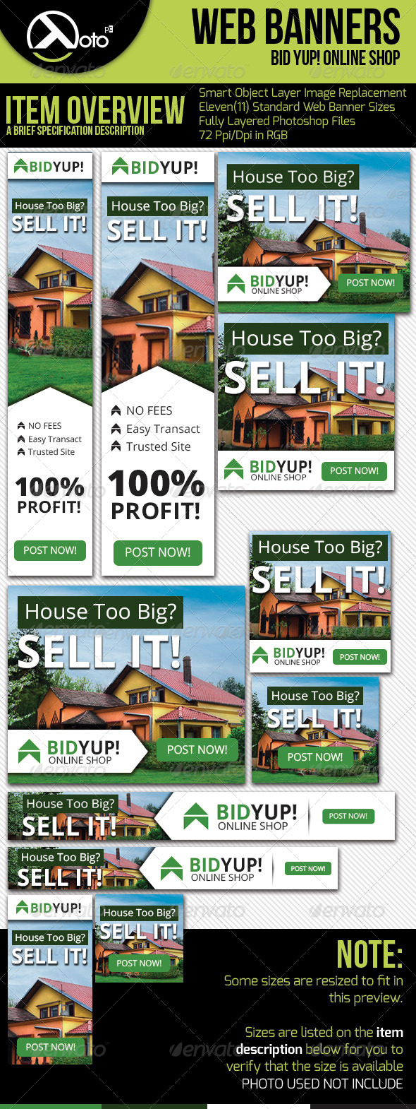 Bid Yup Online Shop Web Banners - Banners & Ads Web Elements