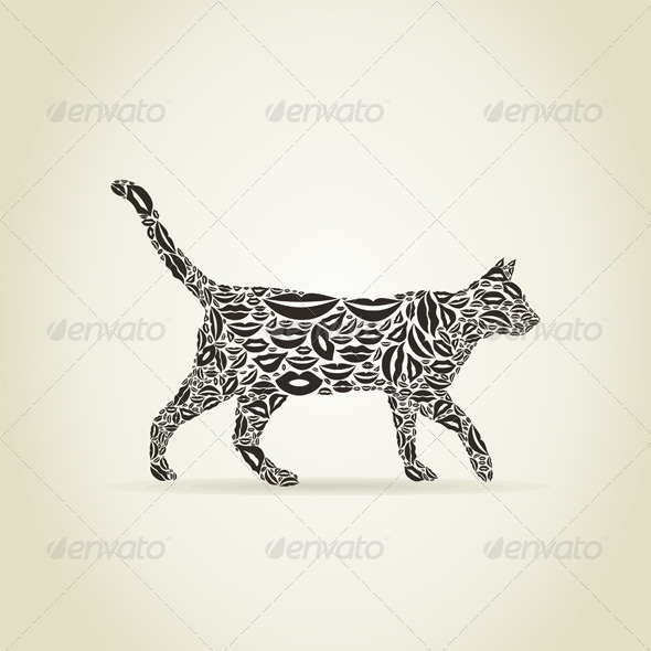 GraphicRiver Cat from Lips 6327453