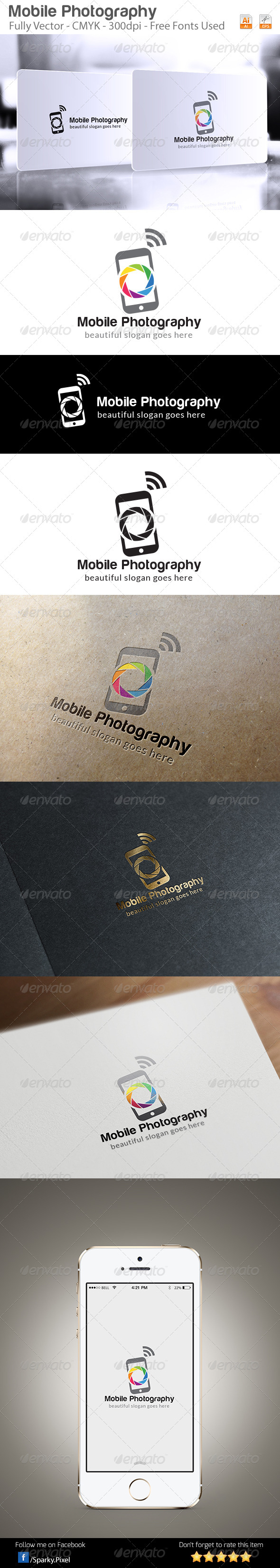 GraphicRiver Mobile Photography Logo Template 6327602